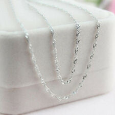 10pcs Wholesale lots 925 Sterling Silver Women Water Wave Chain Necklace 22 inch