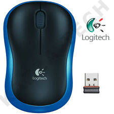 NUOVO Logitech m185 BLU MOUSE OTTICO WIRELESS COMPATTO PER PC PORTATILE MAC LINUX