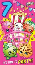 SHOPKINS Age 7 Today / 7th Birthday Card Girls Childrens Birthday Card