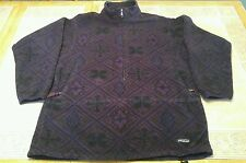VTG PATAGONIA Aztec Native South Western Print Fleece Jacket Men's Large USA