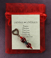 LADYBUG LOVEBUGS CHARM Totem Amulet Talisman Magic Symbol Luck True Love Passion