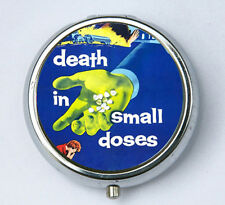 Death in Small Doses pillbox pill case box holder pulp odd punk goth