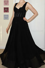 Size 8 H&M maxi evening dress NWT ball gown Lace Chiffon GALA Party Couture