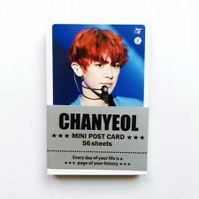 "[EXO] CHANYEOL Solo Photo Message Cards 56pcs K-POP 3.39"" x 2.17"""