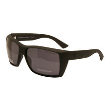 Emporio Armani - Matt Black Classic Square Style Polarised Sunglasses with Case