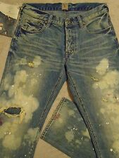 PRPS GOODS & Co. BARRACUDA Destroyed Stained Patched-In Mens 32 x 33 Jeans $250+