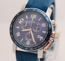 ALPHA CHRONOGRAPH BLUE PYRAMID DIAL MANS WATCH