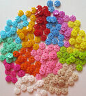 2 HOLE FLOWER RESIN BUTTONS/CRAFT/SEWING 15MM/VAR COLS/VAR QTY