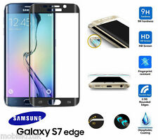 Samsung Galaxy S7 Edge FULL 3D Curved BLACK Tempered LCD Glass Screen Protector
