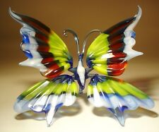 "Blown Glass Figurine ""Murano"" Art Insect Colorful BUTTERFLY"