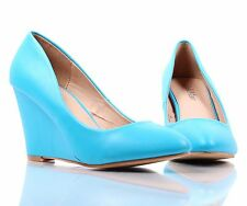 4 Color Narrow Office Ladies Pointed Toe Womens Dress Wedges High Heels Shoes