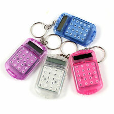 Pocket Plastic 8 Digits LCD Display Mini Calculator with Keyring