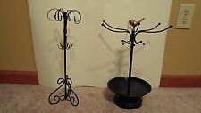 3 Earring Dolls and 2 Jewelry Stands