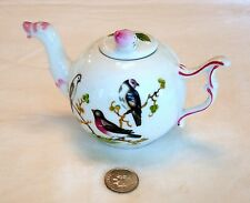 "Antique STAFFORDSHIRE BONE CHINE MINIATURE TEA POT ""Rose Bud"""