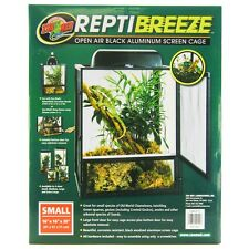 "Zoo Med ReptiBreeze Open Air Black Aluminum Screen Cage SM(16""L x 16""W x 20""H)"