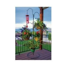 Hanging Plant Stand Outdoor Baskets Holder Patio Planter Garden Deck Flower