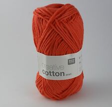 Rico Creative Cotton Aran -  Cotton Knitting & Crochet Yarn - Lobster 75
