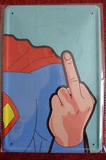Superman F Tin Metal Sign Painted Poster Comics Book Superhero Wall Decor Art