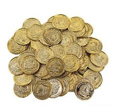 144 PLAY GOLD COINS BIRTHDAY PARTY FAVORS PIRATE LOOT PRIZES TREASURE NEW