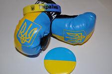 Souvenir Set from Ukraine: Ukrainian Flag, National Trident. Pin+Bracelet+Gloves