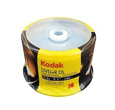 200-PK KODAK Brand 8X Logo Top DVD+R Dual Layer DL Disc 8.5GB