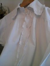 Antique french tissés à la main chanvre lin corvée chemise de travail ~ nuisette nuit blouse ~ 1800s