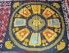 """AUTHENTIC, PRETTY AND CLASSIC HERMES """" POSTE ET CAVALERIE """" LARGE SILK SCARF"""