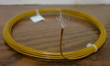 10 feet 16 AWG Silver Plated Kapton Wire Yellow 19 strand
