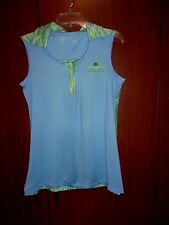 Antigua Blue Desert Dry Bardmoor Golf & Tennis Club Tunic Top   sz  L Large