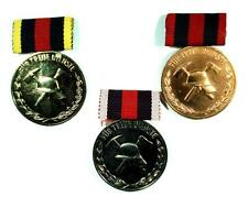 Set of 3 medals for Long service fire fighter , East Germany GDR DDR