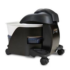 Continuum Pedicute Portable Pedicure Spa Heat & Vibrate - BLACK WOOD White Bowl