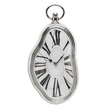 Silver Melting Wall Clock Gift 38cm Surrealist Salvador Dali Style W7557