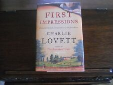 FIRST IMPRESSIONS by Charlie Lovett, SIGNED 1st ed/1st printing(2014, Hardcover)