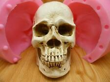 3D big human bone skull fondant cake silicone chocolate soap candles mold tool