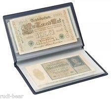 Taschenalbum für Banknoten  groß bis 210x125 mm Geldscheine  Lindner S818