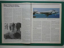 4/1986 ARTICLE REAGAN ORDERED AIR STRIKES TO PREEMPT LYBIAN TERRORISTS QADDAFI