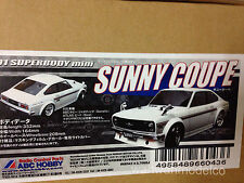 ABC HOBBY RC 1/10 Super Body Mini SUNNY COUPE Clear Body 66043