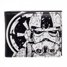 OFFICIAL STAR WARS STORM TROOPER EMPIRE SYMBOL TIE FIGHTER DESTROYER WALLET *NEW
