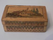 """ NAPOLEONIC "" PRISONER OF WAR STRAW BOX WITH HOUSE/VILLA DESIGN"