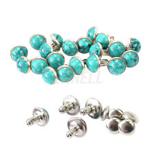 20X DIY Crafts Turquoise Studs Rivets Punk Shoes Clothes Decor Accessories