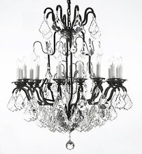 "Wrought Iron Crystal Chandelier Chandeliers Lighting H33"" x W27"""