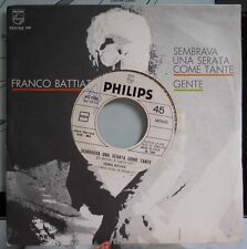 "FRANCO BATTIATO-Sembrava una serata 7"" ITA JUKEBOX + cover J. Hallyday"