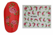 Rose (1025) Flower 3D Nail Art Stickers Water Transfers Decals Buy 2 Get 1 Free