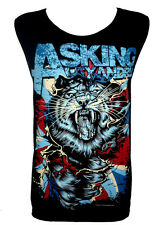 Asking Alexandria Tiger UK Classic Rock Band Music Tank Top Vest T Shirt Size M