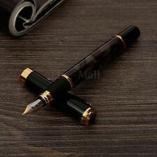 JINHAO 500 Marbled Black Gold Medium Nib Fountain Pen Writing Golden Clip Trim