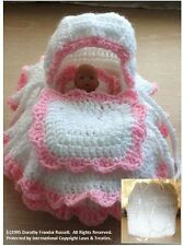 Crochet Pattern: Mini Cradle Bag 4.5 ins doll, MPN CRO129 by Frandor Formats