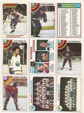 1978-79 Topps Lot of 13 Different (Leaders, Team,CL) EX Hockey Cards Free S/H