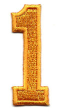 "NUMBERS-Golden Yellow Number ""1"" (1 7/8"") - Iron On Embroidered Applique/Numbers"