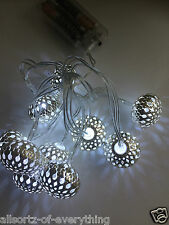 10 LED Mirrored Owls Garland Battery Operated String Lights Indoor Outdoor