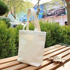 Durable Cotton Canvas Shopping Shoulder Tote Shopper Plain Bag Home 50X25cm Gift
